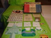 Circa 1960and039s Marx White House And 35 Presidents Master Builder Kit In Original Box