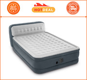-intex- Ultra Plush Dura Beam Deluxe Airbed With Built In Pump And Headboard,queen