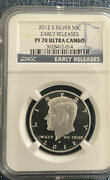 2012-s Kennedy Ngc Pf70 Ultra Cameo Proof Silver Half Dollar Early Releases