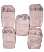 Vintage Rare Huggies Pink Plastic Baby Steps For Her Sz 2 Small Medium 5 Diapers
