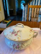 Collectible Antique Chamber Pot Complete With Lid