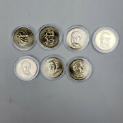 Us Coin 1 Dollar President Dollar Coins - Lot Of 7 - In Capsules Collectable