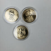 Us Coin 1 Dollar President Dollar Coins - Lot Of 3 - In Capsules Collectable