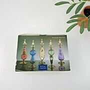 Royal Limited Blown Glass Egyptian Perfume Bottles Set Of 5