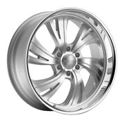Dropstars 658bs 22x11 6x135 Et40 Silver/brushed Face And Polished Lip Qty Of 1