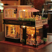 Diy Miniature Dollhouse Furniture Wood Coffee And Cake Shop Craft 3d Puzzles