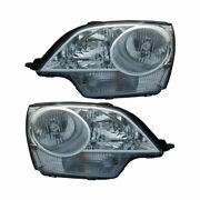 For Saturn Vue 2008 2009 Pair New Left Right Headlight Assembly Dac