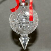 Christmas Ornament Glass Waterford Crystal 2001 Drop 10th Edition Usa Seller