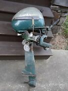 Vintage Scott Atwater Boat Outboard Motor With 3 Props For Parts Or Repair
