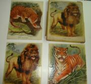 Vintage 3 Picture Puzzles Of Wild Animals In Original Box, Madmar Quality Co.
