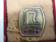Collectible Roadway Trucking 16 Years Safe Driving Award - 1/10 10k Gold Gems