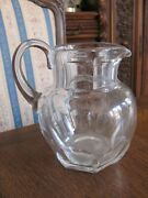 Baccarat Glass Harcourt Pitcher Hand-blown 1841 Collection