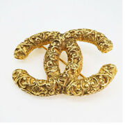 Brooch Coco Mark Gold-coloured Gp Plated 03a Secondhand Women And039s _55693