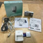 Canon Powershot Elph Sd1200 Is 10.0mp Digital Camera Silver Complete Set