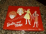 Large Early 1960s Barbie Midge Many Clothes Accessories Case Huge Lot Vintage