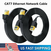 Flat Cat7 Sstp Gigabit Ethernet Network Cable 30awg Cord For Routers/ps4/x-box