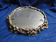 Silver Plated Wedding Cake Stand Antique Victorian 1850 Large Marked Cast Border