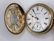 Antique 14ct Gold Plated Pocket Watch 1892 Hobbs And Shaw Manchester By Waltham