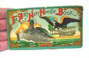 The Army And Navy Needle Book Battleship And Bi-plane Japan Complete