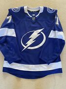 Tampa Bay Lightning Anthony Cirelli 2020 Stanley Cup Playoff Game Used Jersey