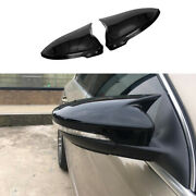 For Vw Jetta 2012-2018 Glossy Black Ox Horn Rear View Side Mirror Cover Trim 2pc