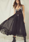 Free People Secret Garden Maxi Top Beaded Bust Sheer Size Small