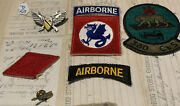 Us Army Special Forces Group Airborne Patches Lot Ranger Ww2 Missile Pin