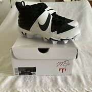 Nike Force Zoom Mike Trout 6 Keystone Menandrsquos Rubber Cleats Sz 8 Black/white New