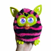 2012 Hasbro Furby Boom Pink And Black Stripes - Tested And Works