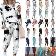 2pcs Womens Tracksuit Sets Ladies Casual Tops+pants Lounge Wears Fitness Clothes