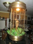 Large 30and039 Vintage Hanging Nude Goddess Mineral Oil Falling Rain Lamp