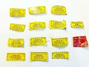 Nestles Quik Chocolate Proof Of Purchase Labels Lot Of 14 Vintage Collectibles