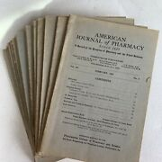 Vintage American Journal Of Pharmacy 1930and039s Lot Of 16 Magazines