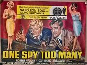 Man From Uncle One Spy Too Many 1966 Original Uk Quad Poster 30 X 40