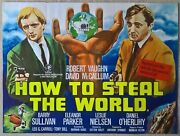 How To Steal The World 1969 Man From Uncle Original Uk Quad Poster