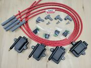 Ign1a Smart Coil With Built In Igniter 4 Cyl Kit And Msd 8.5mm Spark Plug Wires
