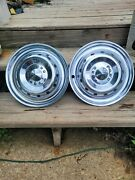 2- 1950 Ford Deluxe Crestline Wheel Covers Hubcaps