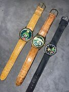 Vintage Marvin The Martian Armitron Watch Rare Lot Of 3