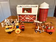 Vintage Fisher Price Little People 915 Family Farm With Silo Complete + Extra