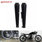 Motorcycle Shorty Reverse Cone Megaphone Exhaust Muffler For Cafe Racer Bobber