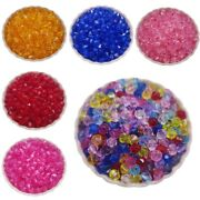 300pcs Acrylic Transparent Diamond Loose Beads For Jewelry Making 4/5/6mm