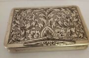 Vintage Cigarette Case Sterling Silver Made In Italy Circa 1940s. 3 X 2