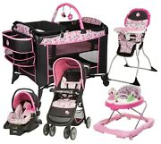 Disney Baby Stroller With Car Seat Travel System High Chair Playard Walker Combo
