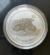2008 Australia Year Of The Mouse Silver 1/2 Oz 999 Silver Coin-ships Free