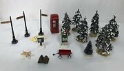 Lemax Christmas Village Sets Accessories And Figurines Holiday Lot Of 16