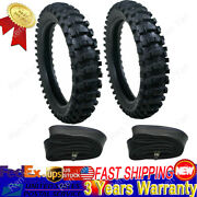 Front Rear Tire Tube Set For Dirt Pit Off-road Bike Bicycle 50cc Up-150cc Black