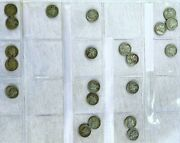 Vintage Mercury Winged Liberty Dimes Lot 51 Dimes From 1917-1945 Coin Collection