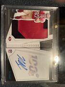 2019 Panini Playbook Nick Bosa Booklet Sp On Card Auto Jersey /49