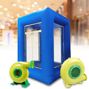 9ft Inflatable Cash Cube Money Machine Advertising Promotion 2 Air Blower