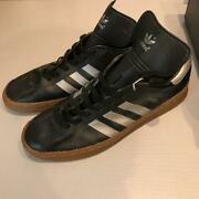 Men 9.0us Vintage Adidas Leather Sneakers/intel Old Made In Germany